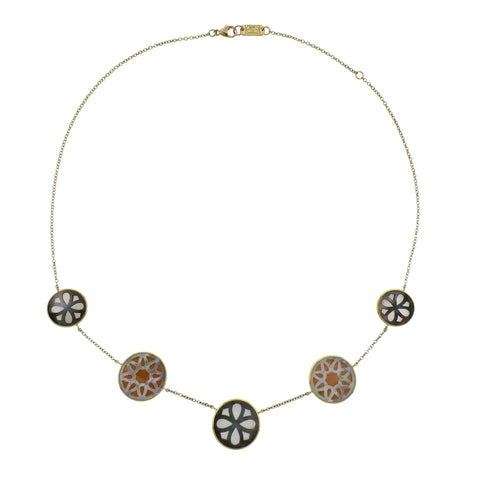 image of Ippolita Rock Candy Sabbia Mother of Pearl 18k Gold Necklace