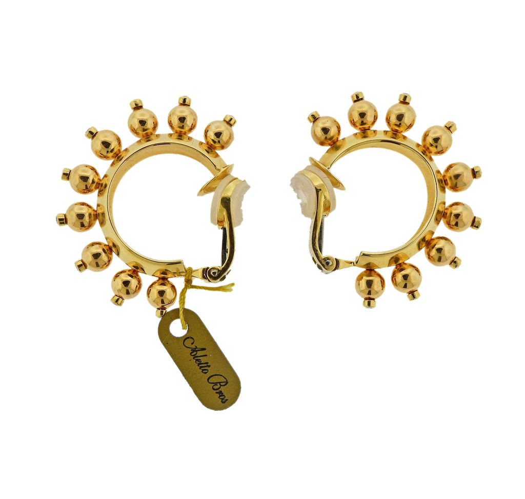 thumbnail image of Aletto Brothers Diamond Gold Half Hoop Earrings