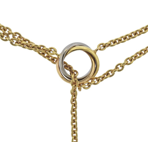 image of Cartier Baby Trinity Gold Pendant Necklace