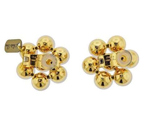 image of Aletto Brothers Crystal Bead Diamond Gold Earrings