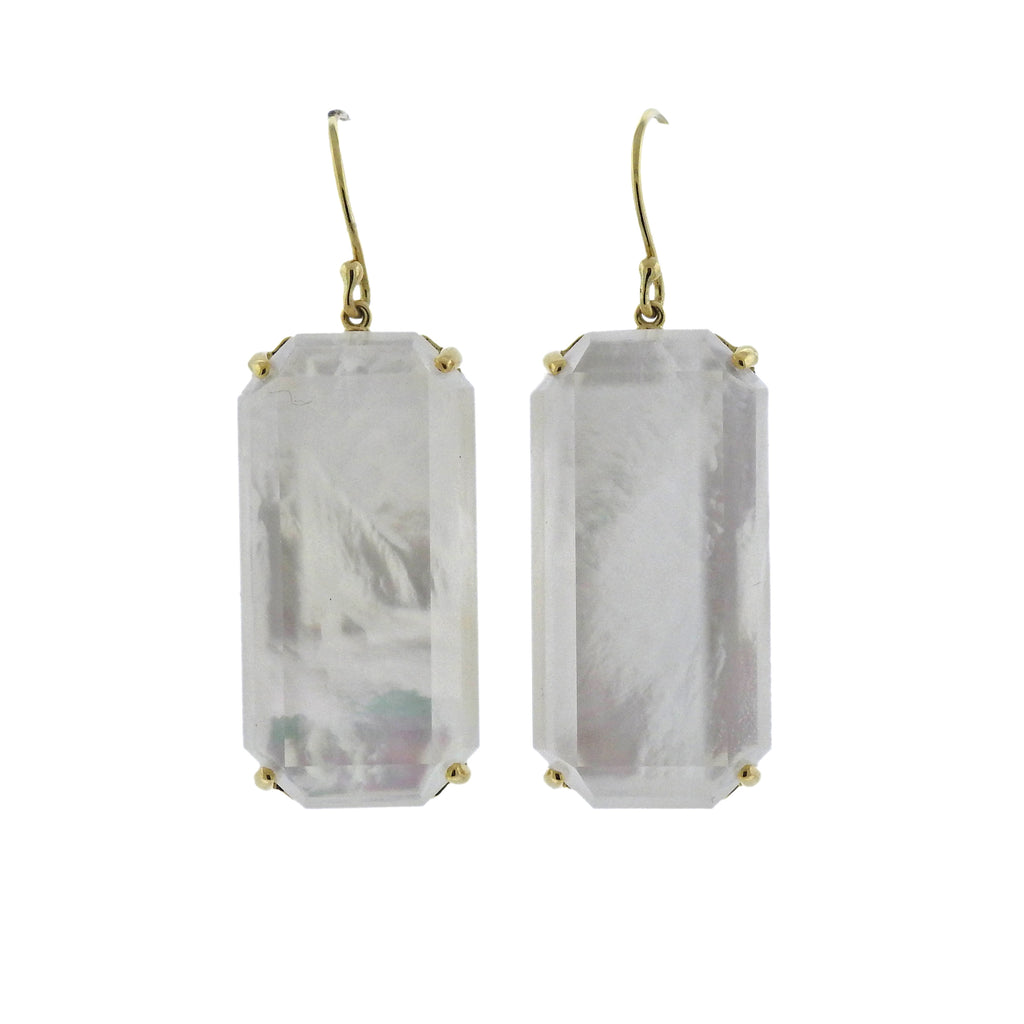thumbnail image of Ippolita Rock Candy Mother of Pearl 18k Gold Earrings