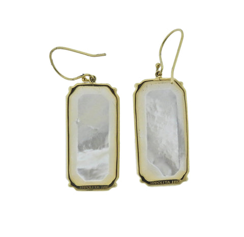 image of Ippolita Rock Candy Mother of Pearl 18k Gold Earrings