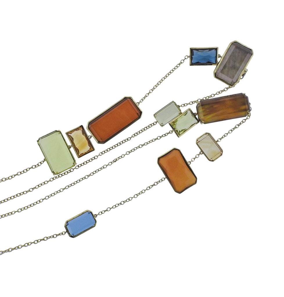 thumbnail image of Ippolita Rock Candy Marrakesh 18k Gold Long Necklace