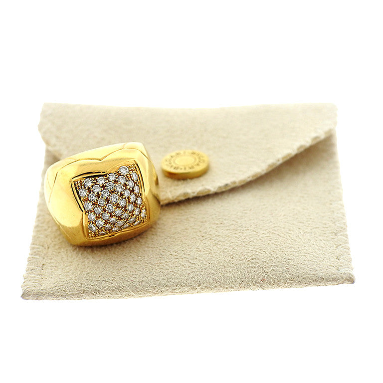 thumbnail image of Bvlgari Bulgari Piramide 18k Gold Diamond Ring