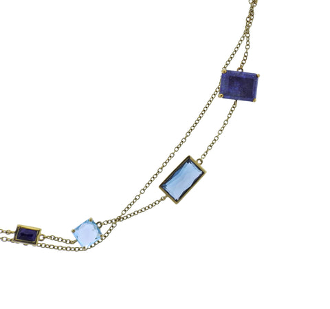 image of Ippolita Rock Candy Mystere Quartz Lapis 18k Gold Necklace