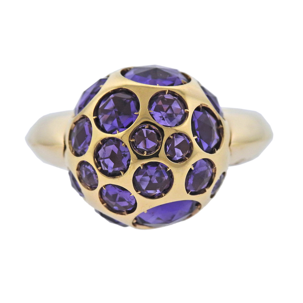thumbnail image of Pomellato Harem Amethyst Gold Ball Ring