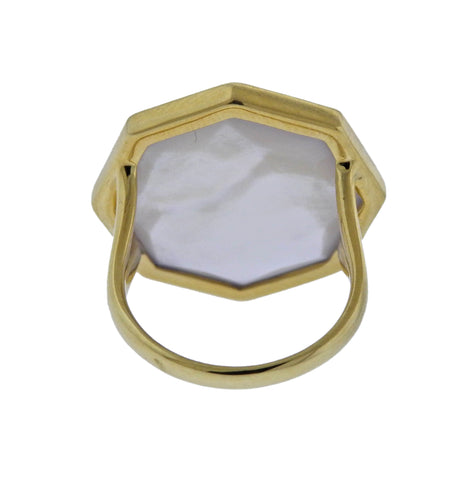 image of Ippolita Rock Candy Amethyst Mother of Pearl 18k Gold Ring