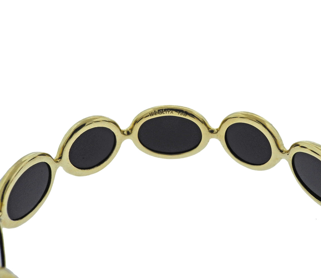thumbnail image of Ippolita Rock Candy Phantom Onyx Mother of Pearl 18k Gold Bracelet