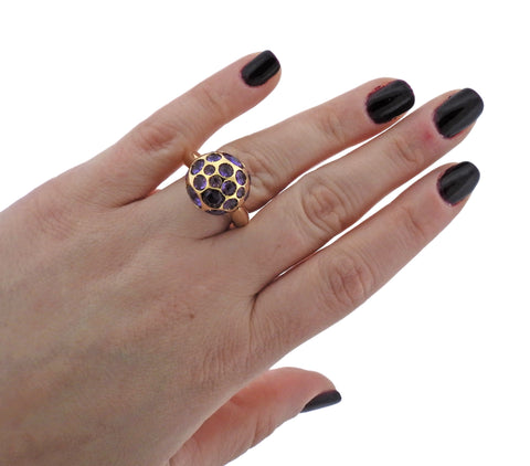 image of Pomellato Harem Amethyst Gold Ball Ring