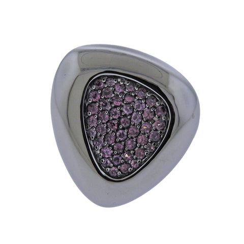 image of Roberto Coin Capri Plus Silver Ruthenium Plated Rhodolite Ring