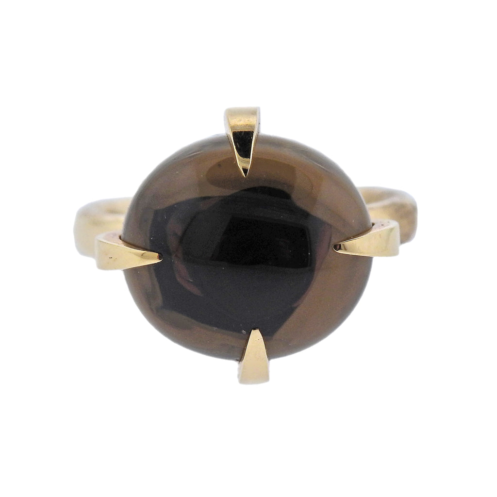 thumbnail image of Pomellato Veleno Smokey Quartz Gold Ring