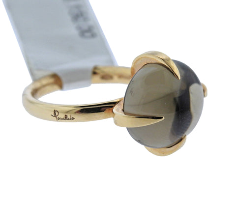 image of Pomellato Veleno Smokey Quartz Gold Ring