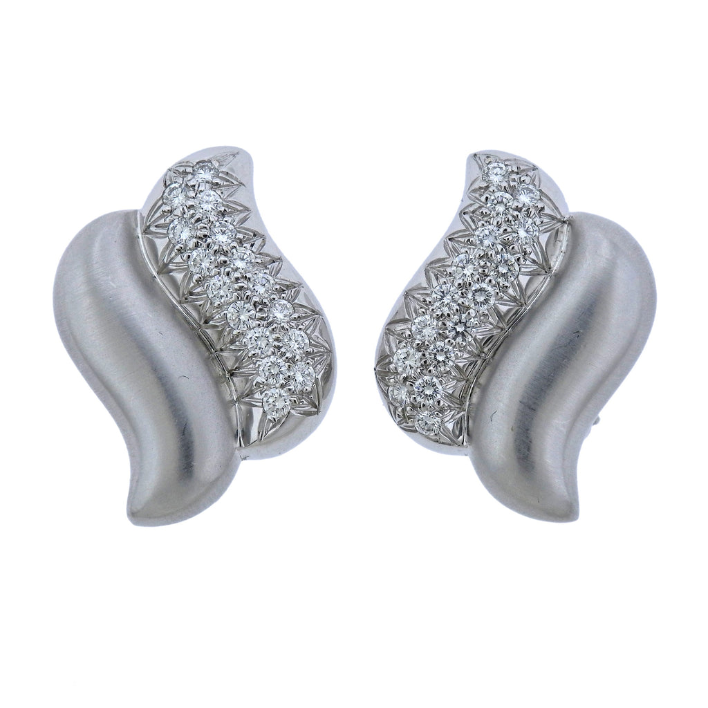 thumbnail image of Marlene Stowe Diamond Gold Earrings