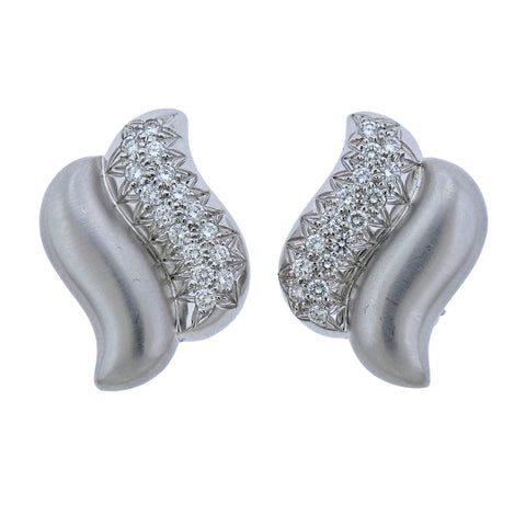 image of Marlene Stowe Diamond Gold Earrings