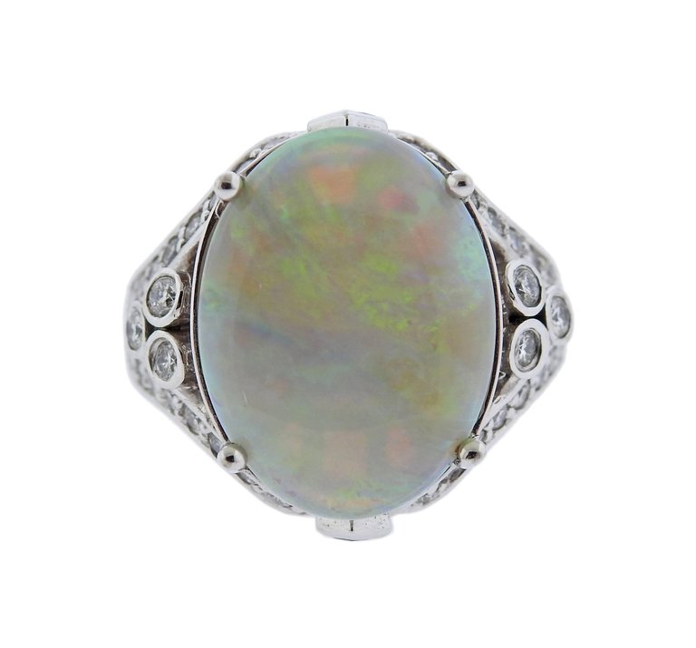 thumbnail image of Opal Diamond Gold Cocktail Ring