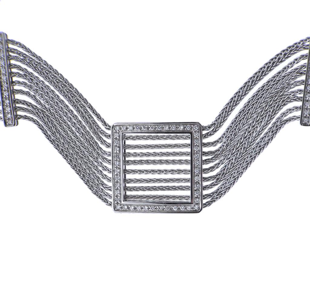 thumbnail image of Damiani Diamond Gold Choker Necklace