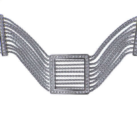 image of Damiani Diamond Gold Choker Necklace