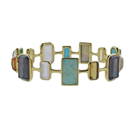 image of Ippolita Rock Candy Gelato Sailor Gemstone 18k Gold Bracelet