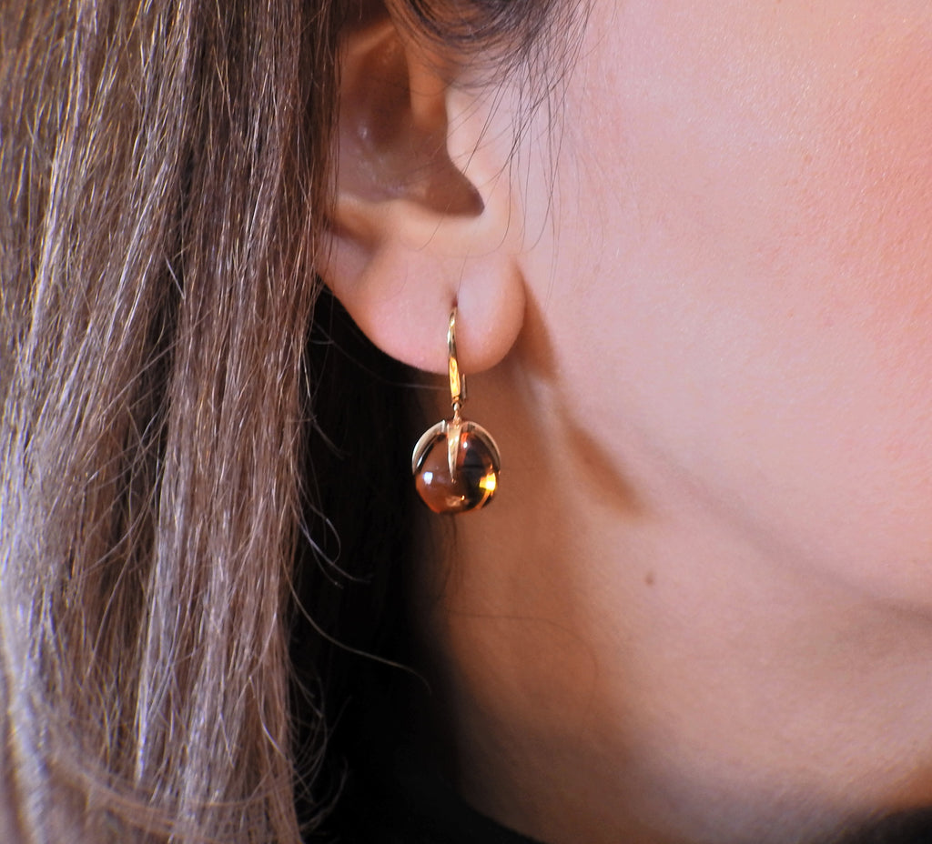 thumbnail image of Pomellato Veleno Citrine Gold Drop Earrings
