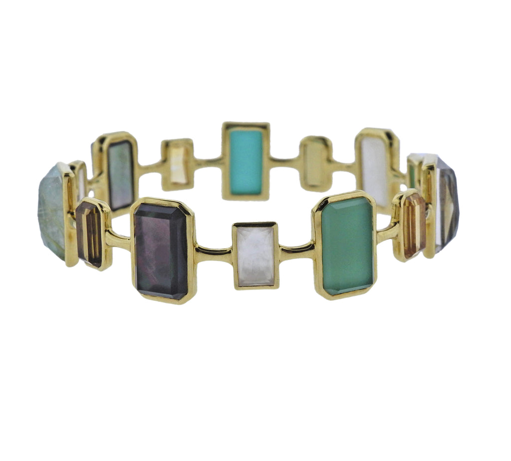 thumbnail image of Ippolita Rock Candy Gelato Sailor Gemstone 18k Gold Bracelet