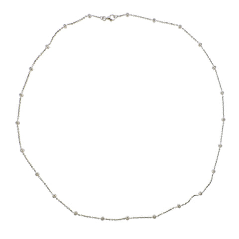 image of 18K Gold Diamond Station Chain Necklace
