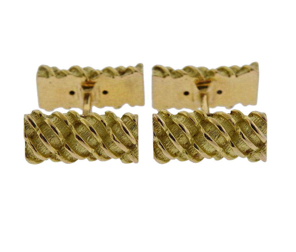 thumbnail image of Tiffany & Co France Gold Bar Cufflinks