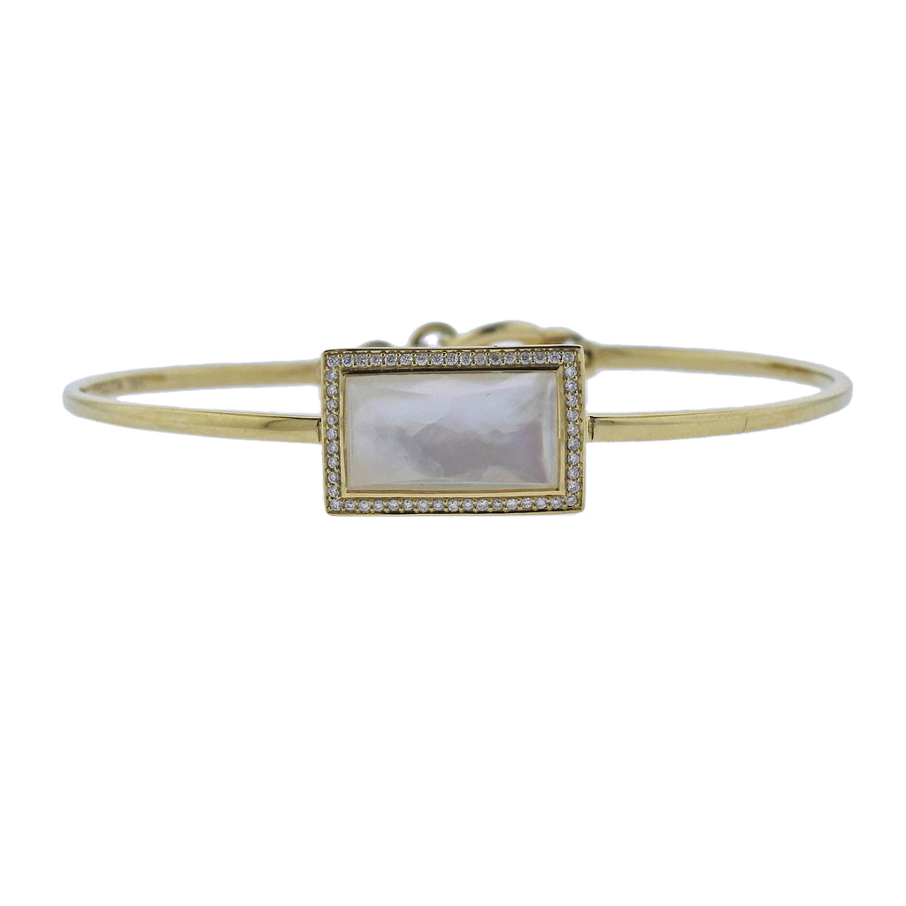 thumbnail image of Ippolita Gelato Toglette Mother of Pearl Diamond 18k Gold Bracelet