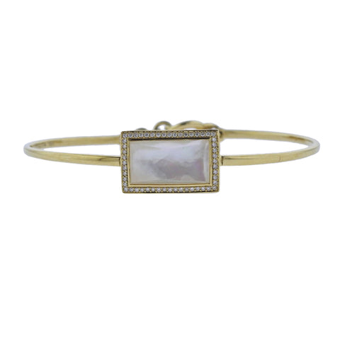 image of Ippolita Gelato Toglette Mother of Pearl Diamond 18k Gold Bracelet