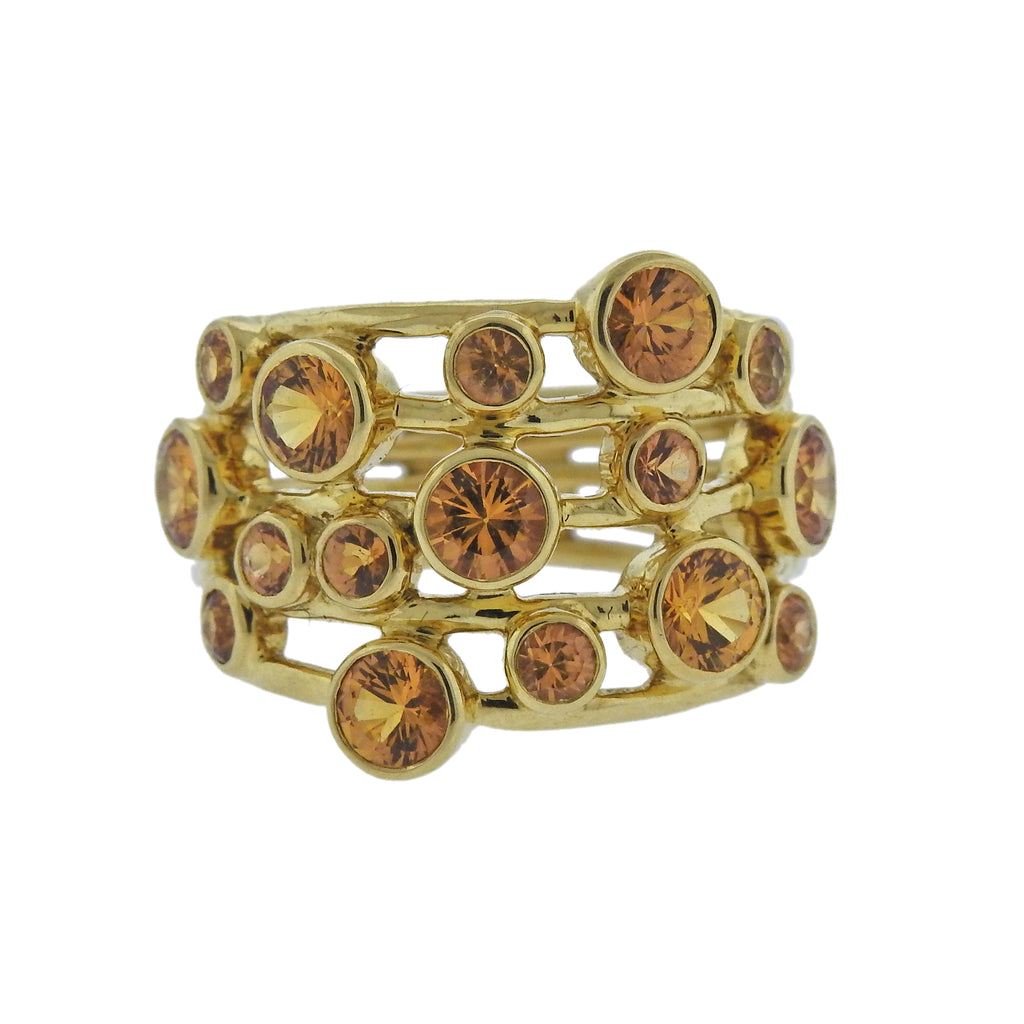 thumbnail image of Ippolita Glamazon Stardust Constellation Yellow Sapphire 18k Gold Ring