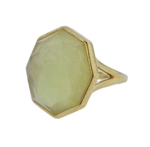 image of Ippolita Rock Candy Citrine Mother of Pearl 18k Gold Ring