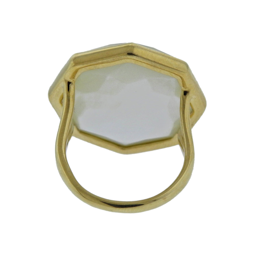 thumbnail image of Ippolita Rock Candy Citrine Mother of Pearl 18k Gold Ring