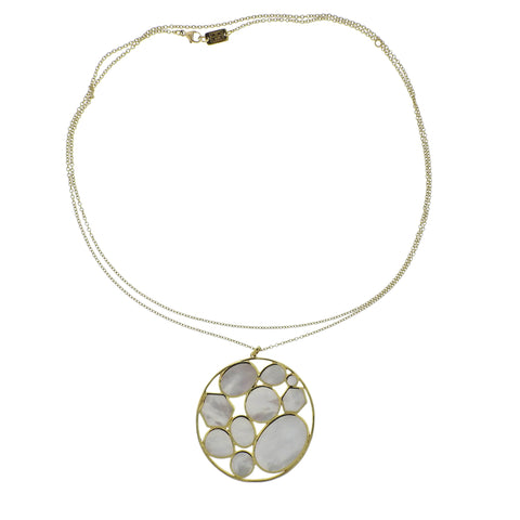 image of Ippolita Rock Candy Kaleidoscope Mother of Pearl 18k Gold Necklace