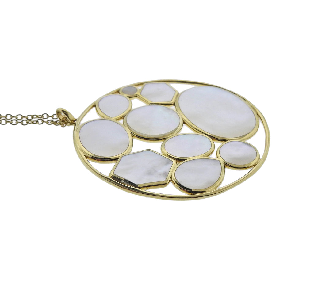 thumbnail image of Ippolita Rock Candy Kaleidoscope Mother of Pearl 18k Gold Necklace