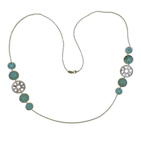 image of Ippolita Rock Candy Isola Turquoise Mother of Pearl Necklace