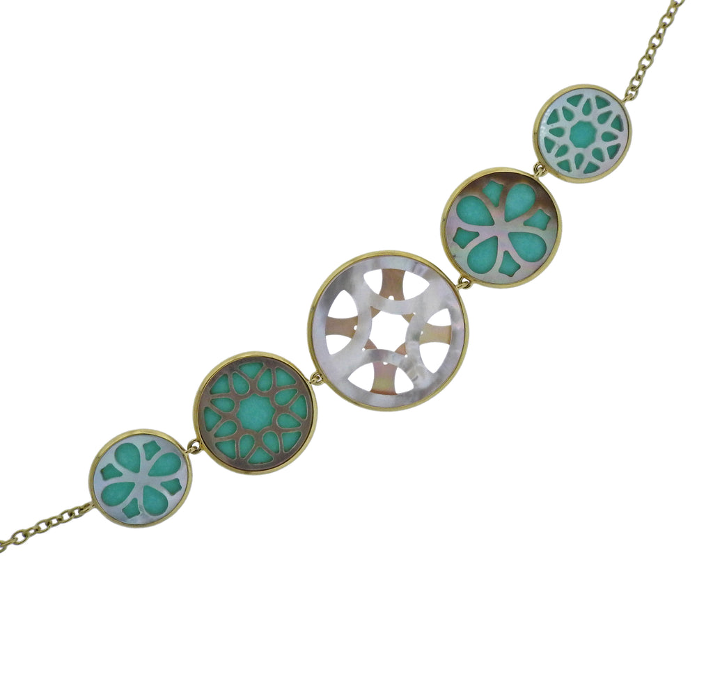 thumbnail image of Ippolita Rock Candy Isola Turquoise Mother of Pearl Necklace