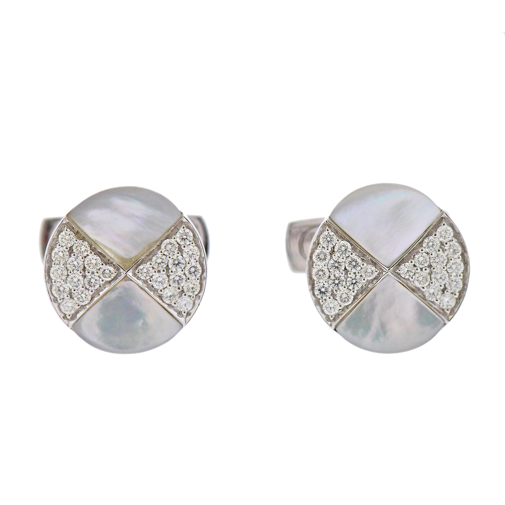 thumbnail image of White Gold MOP Diamond Cufflinks