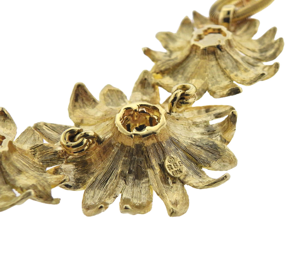 thumbnail image of Bielka 18k Gold Sunflower Pendant Necklace