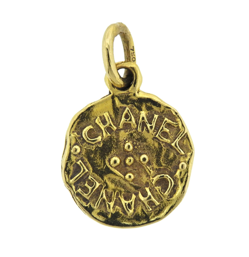 thumbnail image of Chanel 18k Gold Horse Medallion Pendant