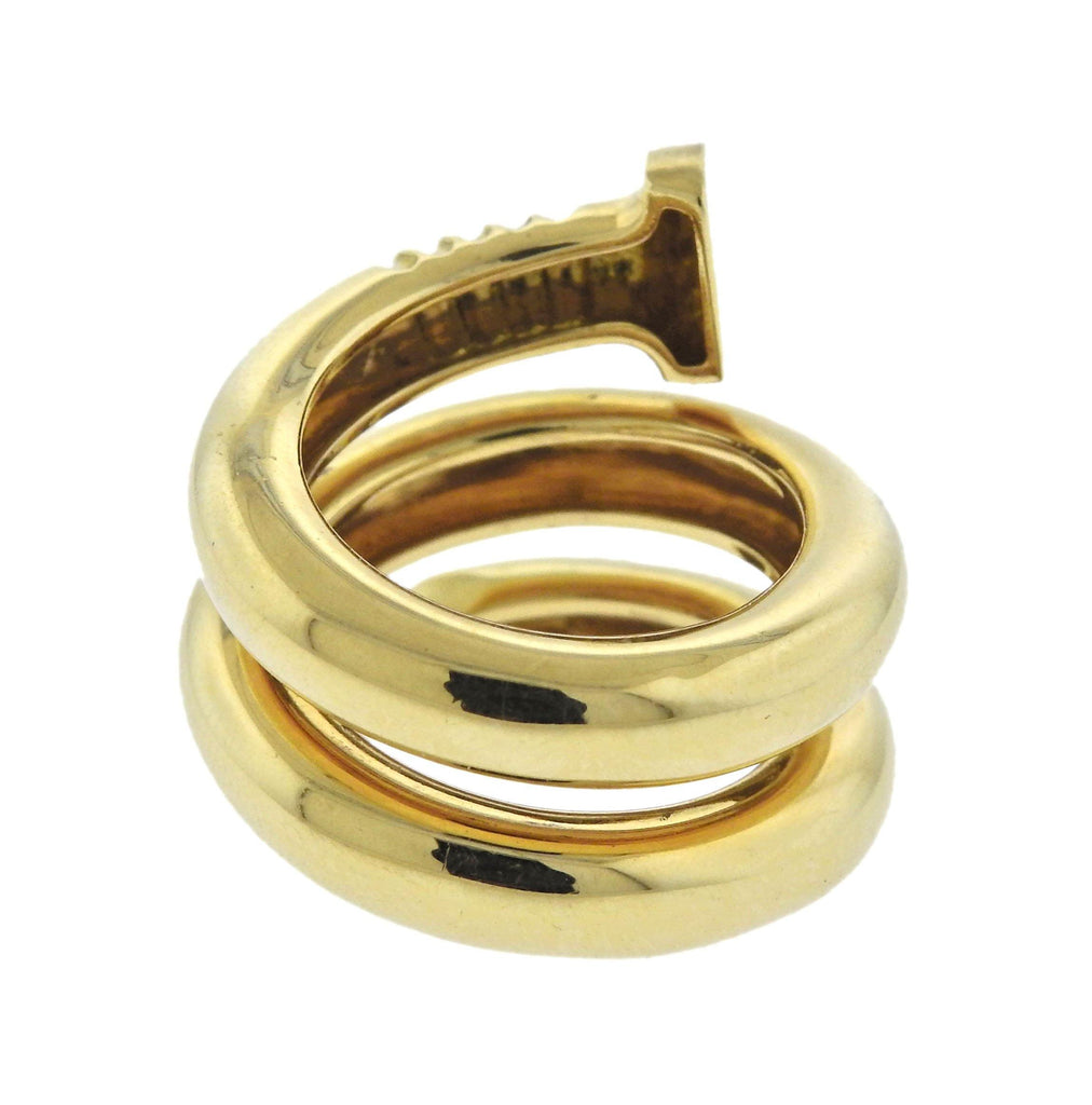 thumbnail image of David Webb Tool Chest 18k Gold Nail Wrap Ring
