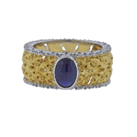 image of Buccellati Sapphire Gold Ring
