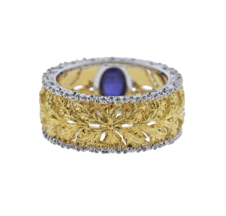 thumbnail image of Buccellati Sapphire Gold Ring
