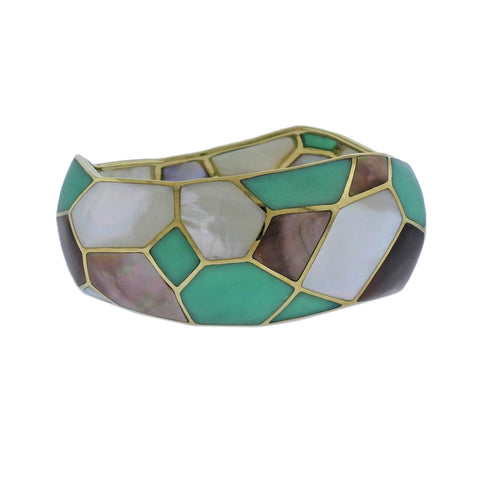 image of Ippolita Rock Candy Deco Pisa Chrysoprase Gold Bracelet