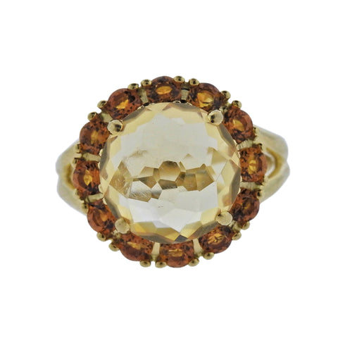 image of Ippolita Lollipop Madeira Citrine 18k Gold Flower Ring