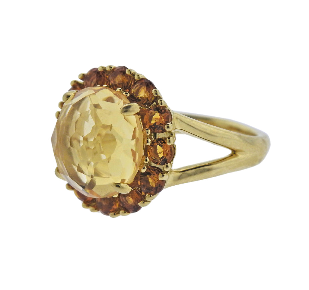thumbnail image of Ippolita Lollipop Madeira Citrine 18k Gold Flower Ring