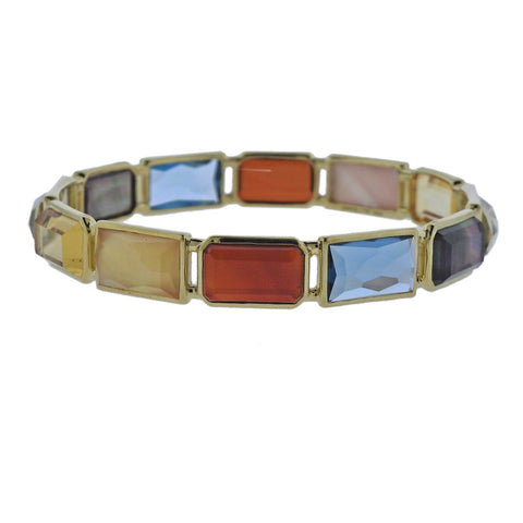 image of Ippolita Rock Candy Gelato Marrakesh 12 Stone 18k Gold Bracelet