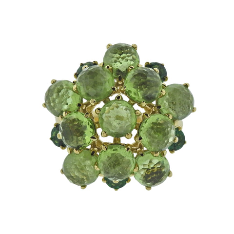 image of Ippolita Lollipop Tsavorite Peridot 18k Gold Ring