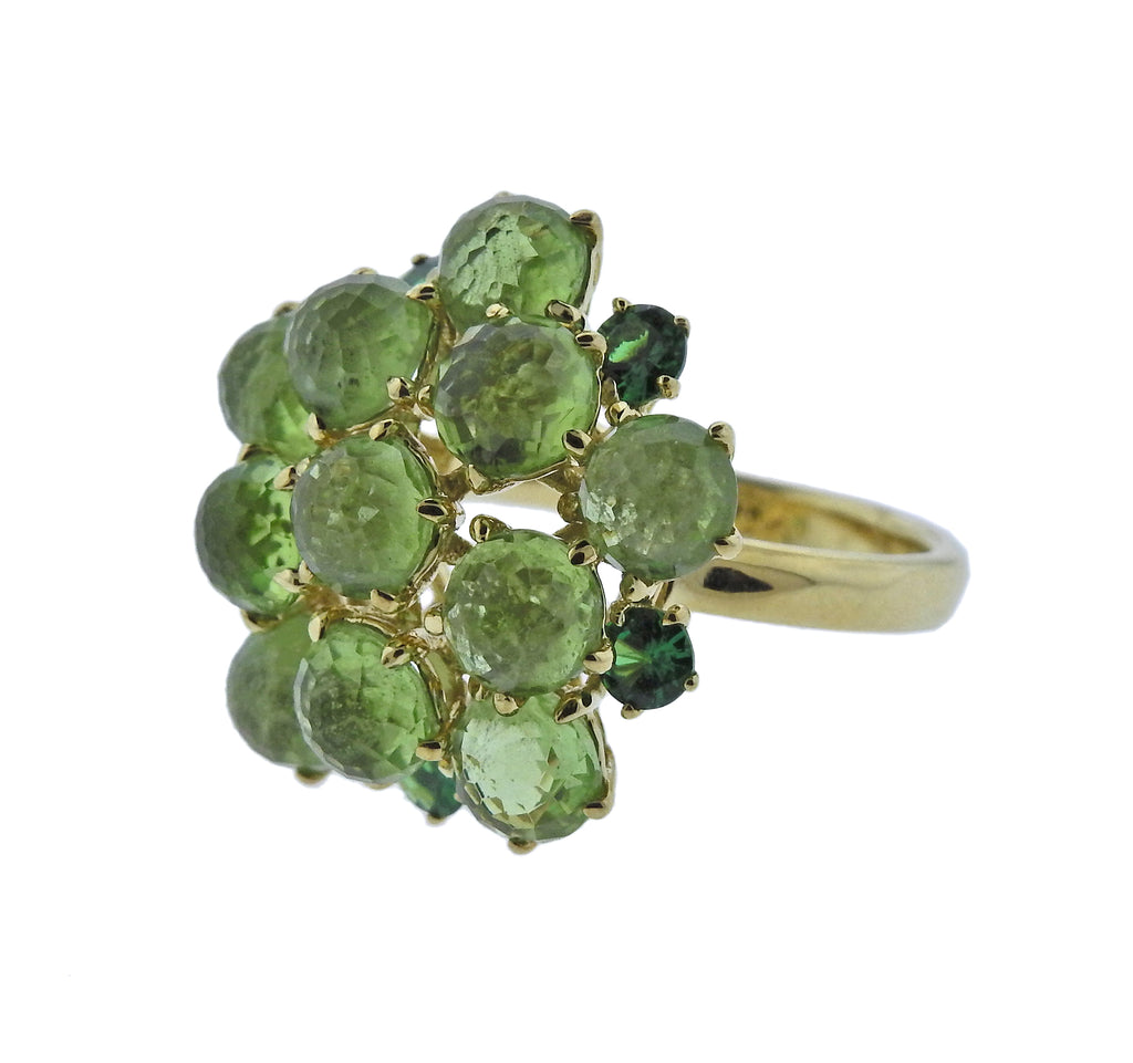 thumbnail image of Ippolita Lollipop Tsavorite Peridot 18k Gold Ring