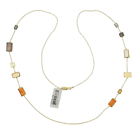 image of Ippolita Rock Candy Gelato Beverly 18k Gold Long Necklace