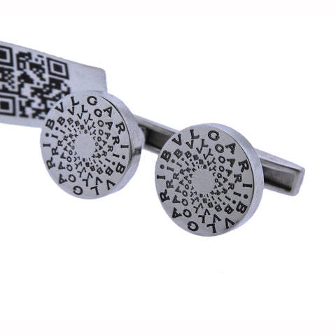 image of Bulgari Sterling Silver Cascading Cufflinks