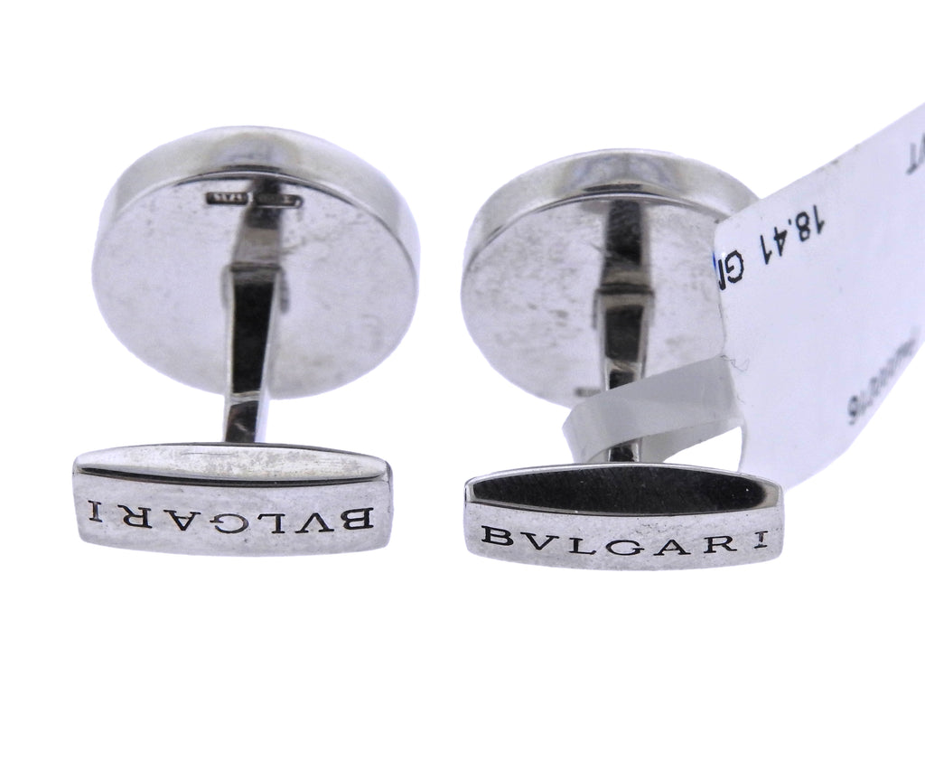thumbnail image of Bulgari Sterling Silver Cascading Cufflinks